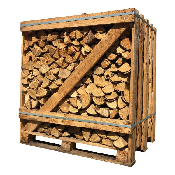 Haardhout mix ovengedroogd (pallet 1 kuub) - haardhouttoppers.nl